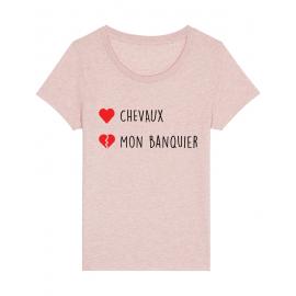 tee shirt équitation rose