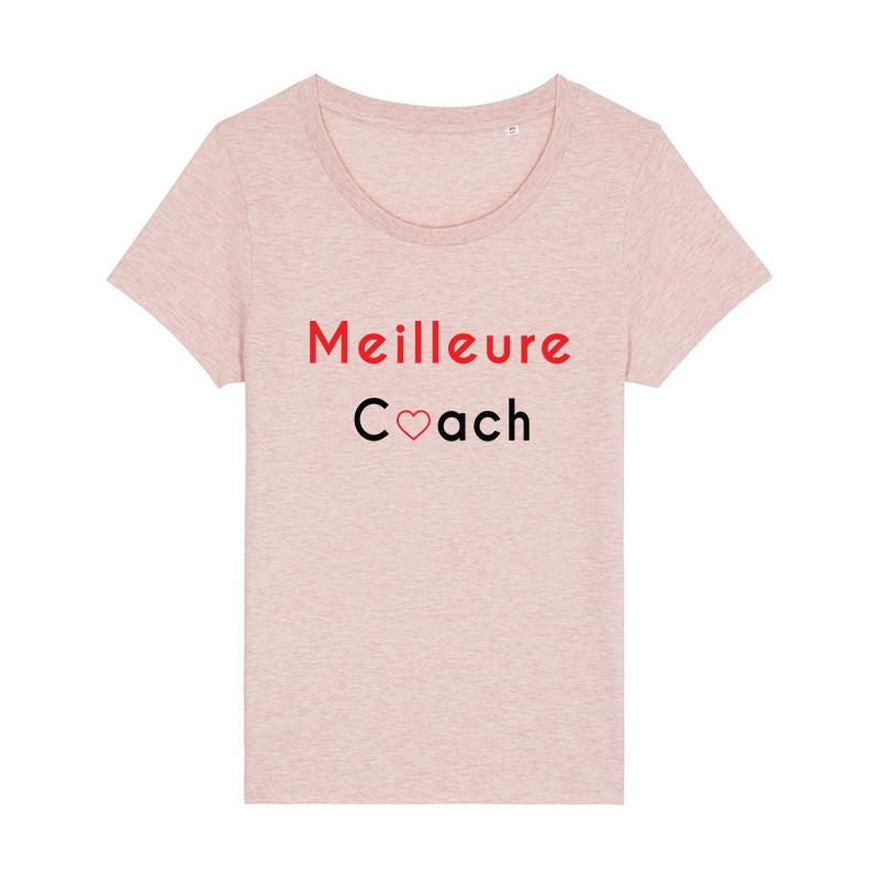 tee shirt rose meilleure coach